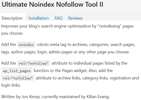 Image Post For Ultimate Noindex Nofollow Tool II